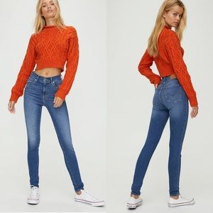 Levi's mile high super skinny size 25